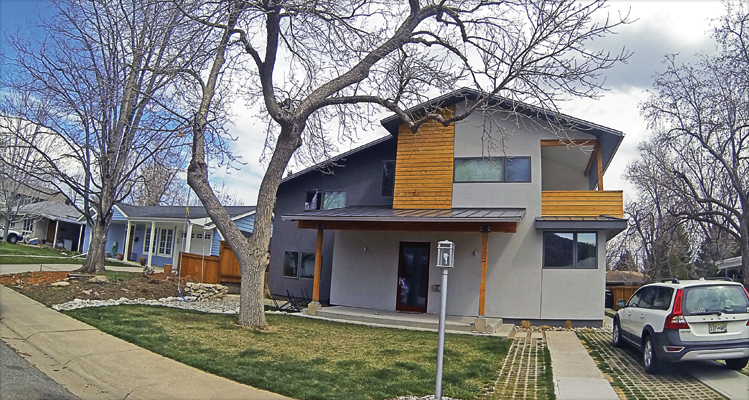 Exterior house painting in Boulder, Colorado